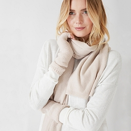 Essential Cashmere Scarf - Natural