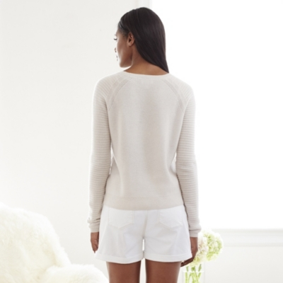 Cashmere Textured Front Sweater