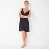 Jersey Chantilly Lace Trim Nightgown - Navy