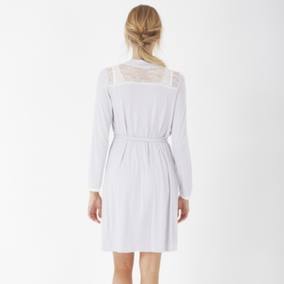 Jersey Chantilly Lace Trim Robe