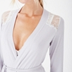 Jersey Chantilly Lace Trim Robe