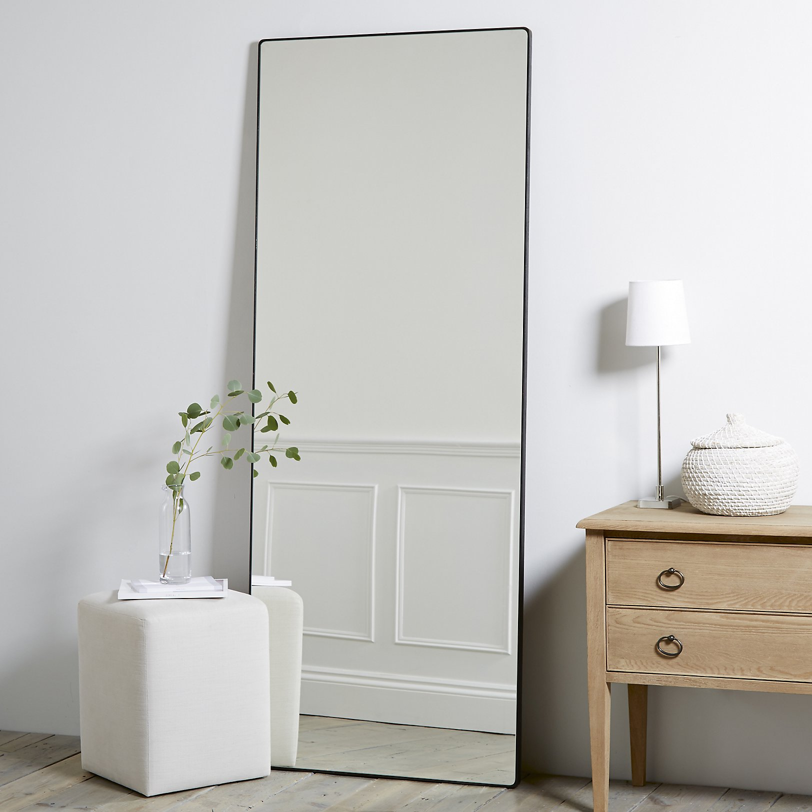 Chiltern Thin Metal Full Length Mirror. Mirrors   Wall  Floor  Dressing Table   Full Length   The White