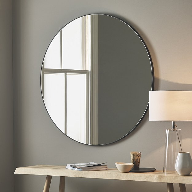 Chiltern Thin Metal Round Mirror Mirrors The White Company Uk