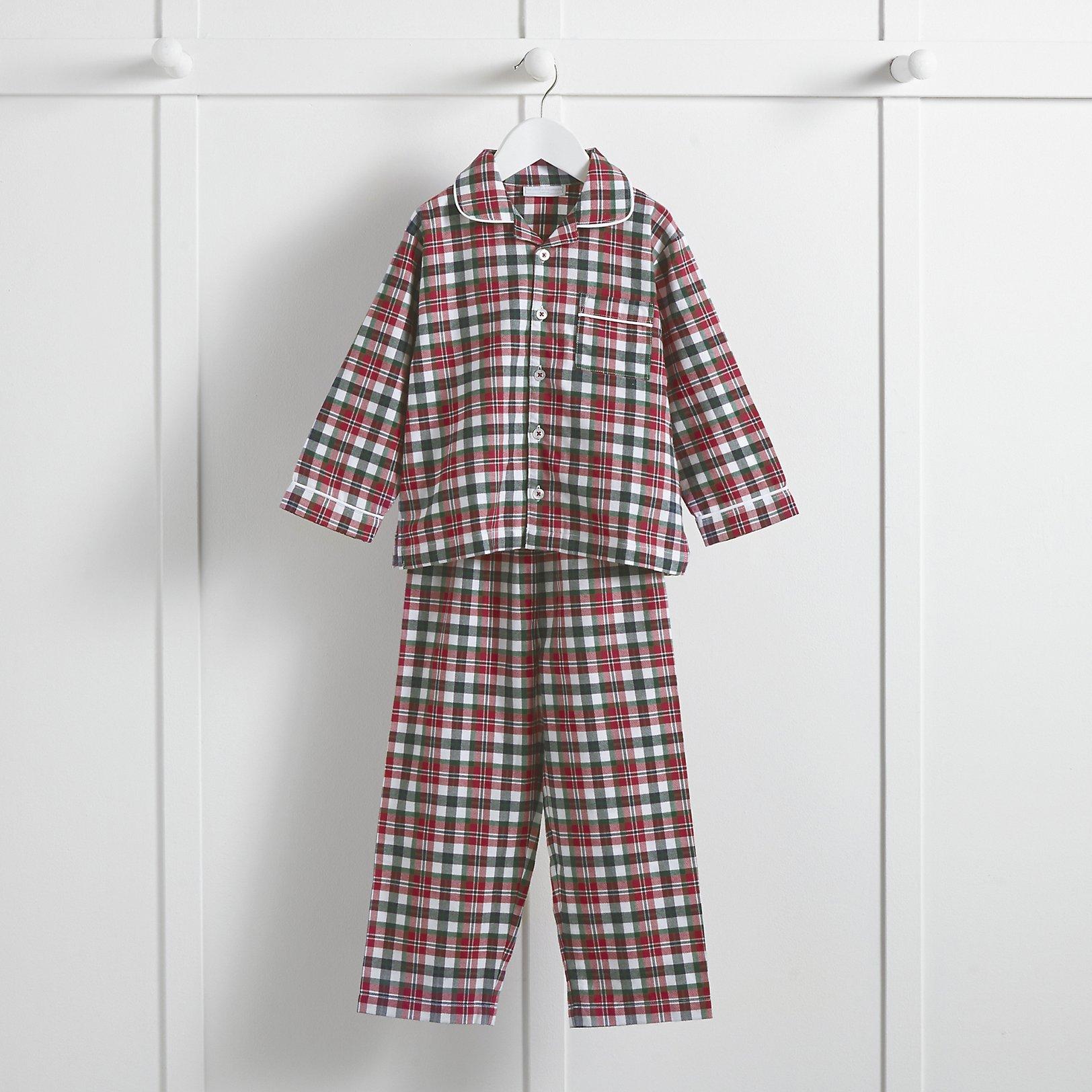 Christmas Check Flannel Pyjamas (1-12yrs) | Little White Company ...