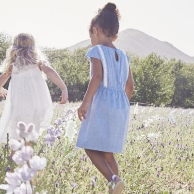 Chambray Lace Dress (1-5yrs)