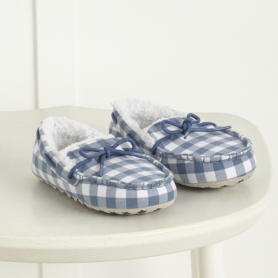 Checked Moccasin Slippers