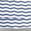 Chevron Stripe Knot Hat - White