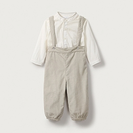 Special Moments Shirt & Dungaree Set