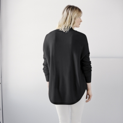 Circular Long Sleeve Sweater - Dark Charcoal Marl