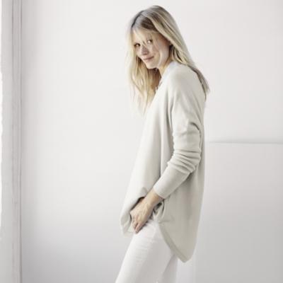 Circular Long Sleeve Sweater - Stone