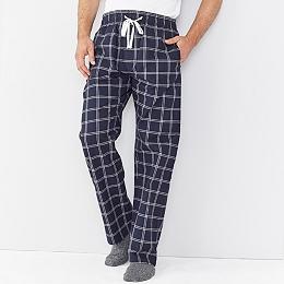 Men's Navy Check Pajama Bottoms