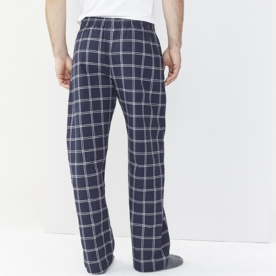 Men's Navy Check Pajama Bottoms