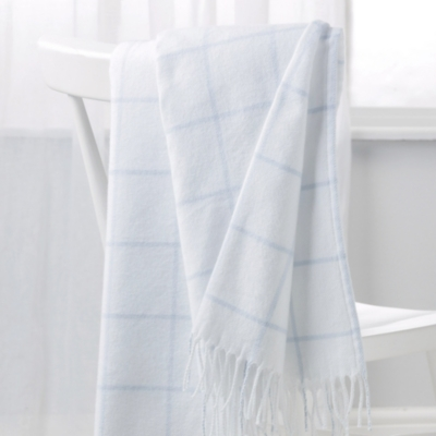Cotton Check Baby Blanket - Blue