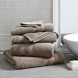 Classic Double Border Towels - Cappuccino