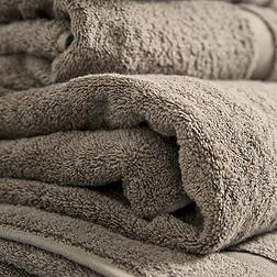 Classic Double Border Towels - Cappucino