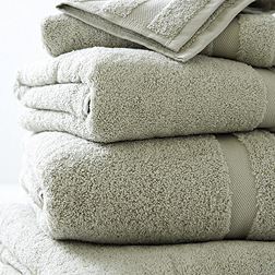 Classic Double Border Towels - Eucalyptus
