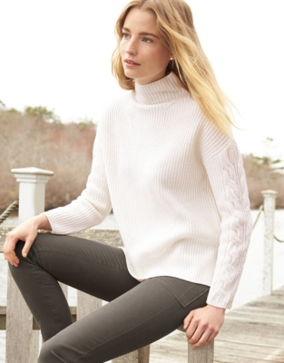 Wool Cable Sleeve Jumper
