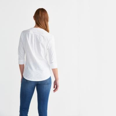 Collarless Jersey Shirt
