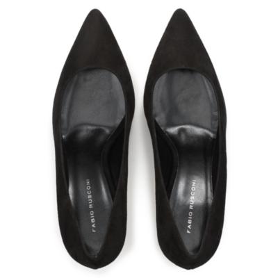 Suede Court Shoes - Black