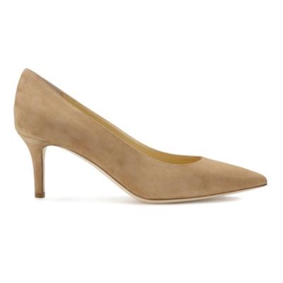Suede Court Shoes - Camel