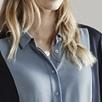 Color Block Silk Shirt