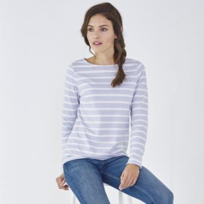 Classic Breton Stripe Top - Misty Blue