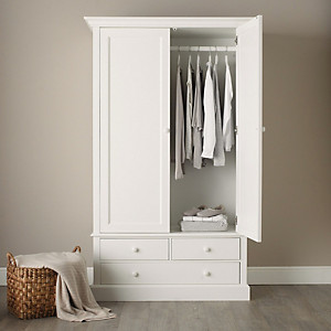 Classic Large Wardrobe Bedroom Furniture The White