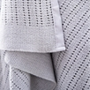 Satin Edged Pram Baby Blanket - Gray