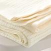 Satin Edged Baby Cot Blanket - Ivory