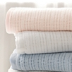 Satin Edged Pram Baby Blanket - Pink