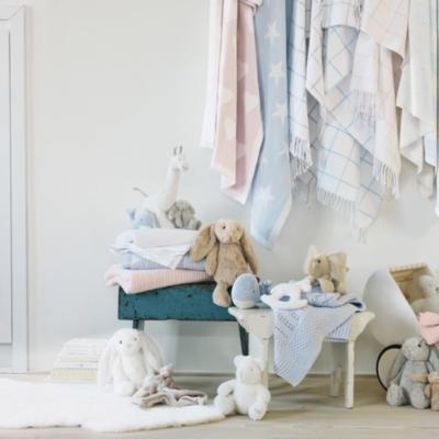 Satin Edged Cellular Cot Blanket - Cot Blanket - White