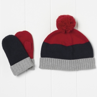 Boys' Colorblock Pom Pom Hat