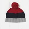 Boys Color Block Pompom Hat