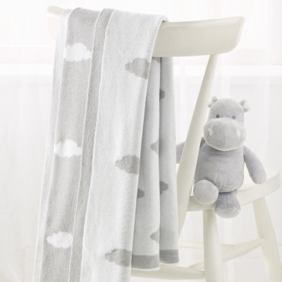 Reversible Cloud Baby Blanket
