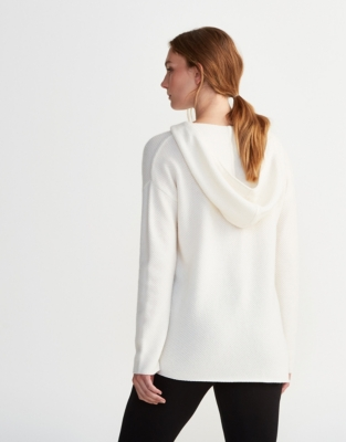 Cashmere Textured Hooded Tunic