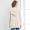 Hooded Waterfall Cardigan - Natural
