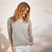 Cotton-Linen Stripe Sweatshirt
