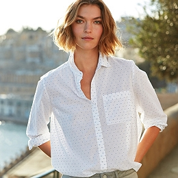 Cotton Contrast Dobby Shirt