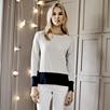 Color Block Deep Hem Sweater