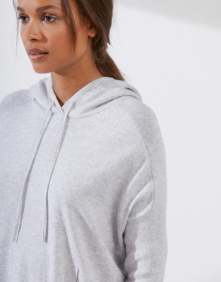 Cotton-Cashmere hooded tunic