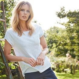 Cotton Pocket T-Shirt - Chalk Blue