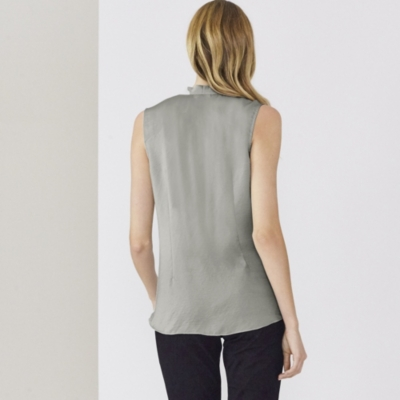 Sleeveless Wrap-Front Cowl Top