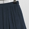 Corduroy Pleat Skirt - Navy