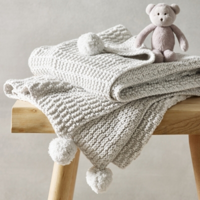 Unisex Cotton-Cashmere Textured Blanket - The White Company
