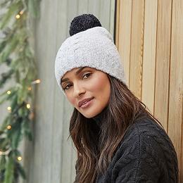 Cable Pom-Pom Bobble Hat