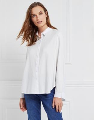 Cotton Woven Back Jersey Shirt