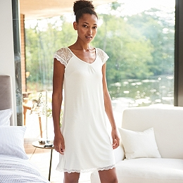 Lace Cap Sleeve Nightgown