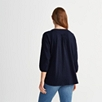 Cotton Boho Top - Navy