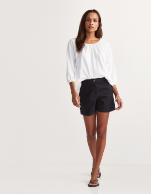 Cotton Boho Top - White