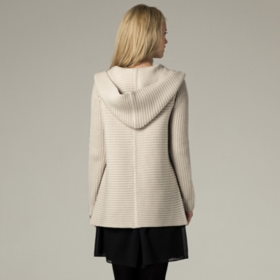Chunky Rib Hooded Cardigan